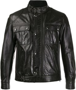 Gangster leather jacket - Black
