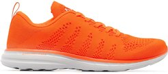 mesh lace-up sneakers - ORANGE