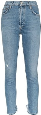 cropped distressed jeans - Blue