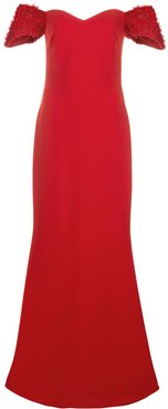 off-shoulder maxi dress - Red