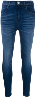 high rise skinny jeans - Blue