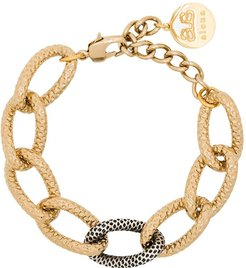 18kt gold and silver-plated Tiffany chain bracelet