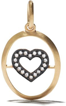 18kt yellow gold diamond heart pendant necklace - 18ct Yellow Gold