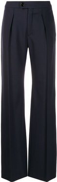 high-waisted wide-leg trousers - Blue
