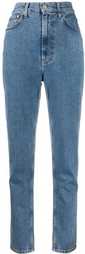 high-rise tapered jeans - Blue