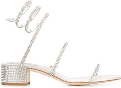 Cleo rhinestone-embellished sandals - Grey