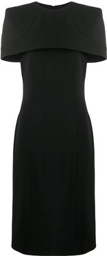 cape fitted dress - Black