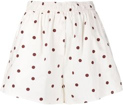 polka dot shorts - White