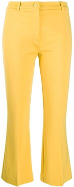 high rise cropped trousers - Yellow