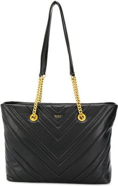 Vivian quilted tote bag - Black