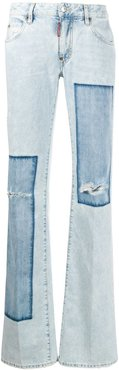 patchwork flares - Blue