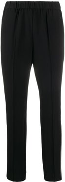 straight-leg cropped trousers - Black