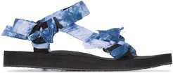knotted strap flat sandals - Blue
