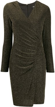 ruched fitted dress - Black
