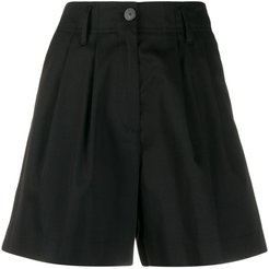 high-waisted tailored-style shorts - Black