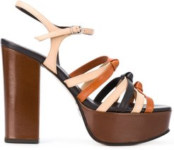 strappy platform sandals - Brown
