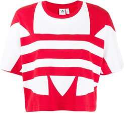 large logo short-sleeve top - Red