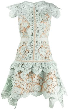 embroidered floral dress - Green