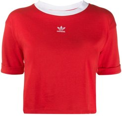 cropped T-shirt - Red