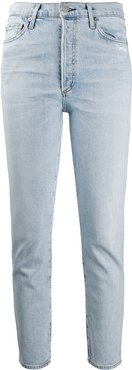 high-rise cropped jeans - Blue