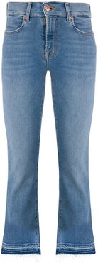 distressed high rise jeans - Blue