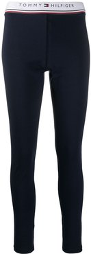 jersey leggings - Blue