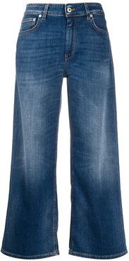 Avenue high-rise cropped jeans - Blue