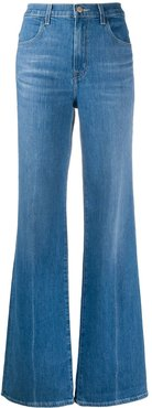 Joan high-rise flared jeans - Blue
