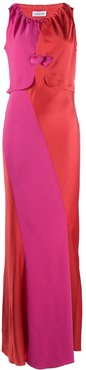 open front heart dress - Red