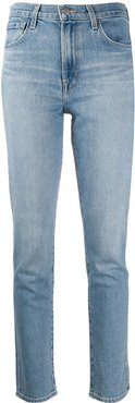 high-rise cigarette jeans - Blue