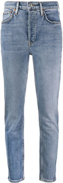 high-waisted slim-fit jeans - Blue