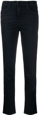 high-waisted tapered-leg jeans - Blue