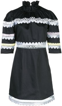 Whitley scalloped embroidered dress - Black