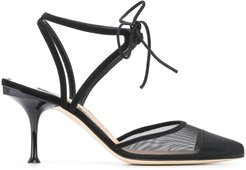 80mm sheer panel pumps - Black