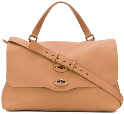 Postina large tote bag - Brown