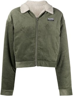fitted corduroy jacket - Green