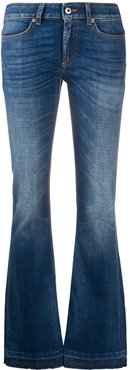 low rise flared jeans - Blue