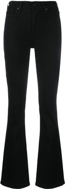 high-rise flared jeans - Black