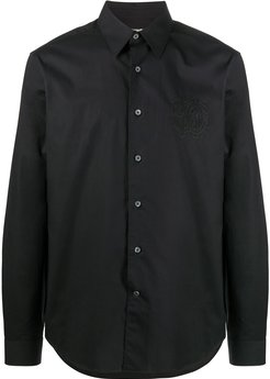 button-up tailored shirt - Black