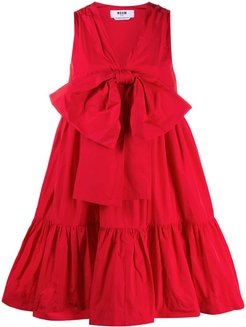 bow detail tiered dress