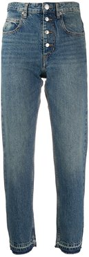high rise straight jeans - Blue