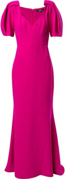 short-sleeve maxi dress - PINK