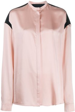 button up blouse - PINK