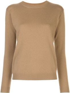 crew neck jumper - Brown