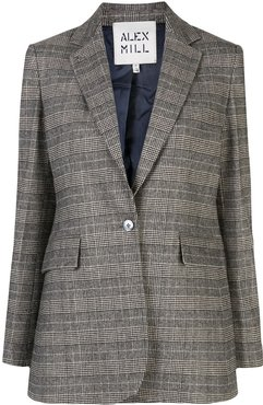 check print blazer - Grey