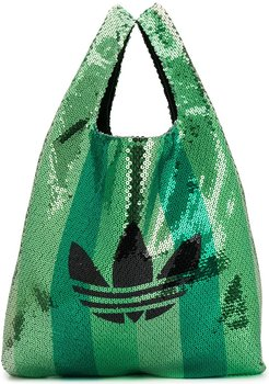 sequined Shopper Tote - Green