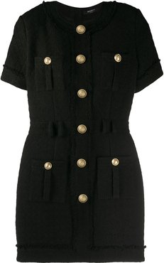 button fitted dress - Black