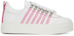 stripe-side low-top trainers - White