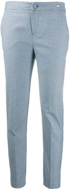 checkered tailored trousers - Blue
