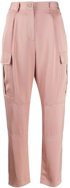 side pockets high waisted trousers - PINK